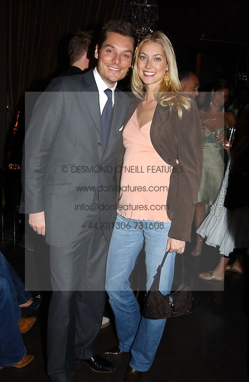 SEB &amp; HEIDI BISHOP she was model Heidi Wichlinski at the opening party for the new BECCA cosmetics store at 91a Pelham Street, London SW7 on 19th May 2005.<br /><br />NON EXCLUSIVE - WORLD RIGHTS