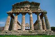 ITALY, GREEK CULTURE, Paestum; Greek Colony founded in 6thc.BC; the Temple of Ceres 6thc.BC, Doric style with 34 columns