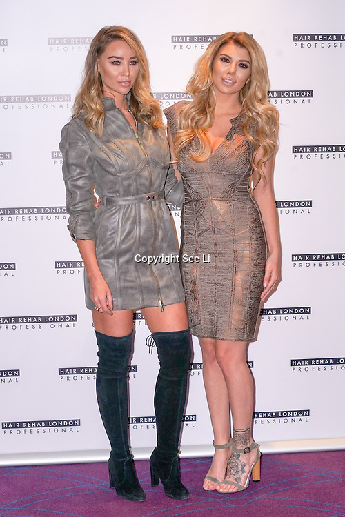 London, England,UK. 10th Oct 2016: Lauren Pope ,Olivia Buckland is launchingThe Luxe Collection for Hair Rehab London Founded by Lauren Pope in London,UK. Photo by See Li