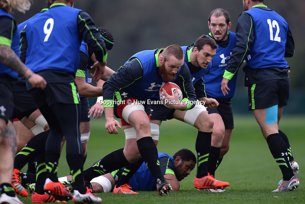 20.11.14 - Wales Rugby Training -<br /> Jake Ball during training.<br /> &copy; Huw Evans Picture Agency