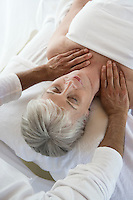 Senior woman having massage