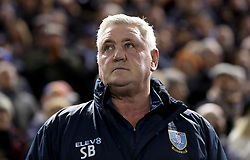 Sheffield Wednesday manager Steve Bruce looks on