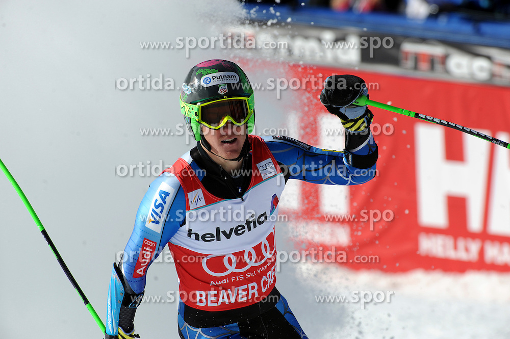 02.12.2012, Birds of Prey, Beaver Creek, USA, FIS Ski Alpin Weltcup, Riesenslalom, Herren, 2. Lauf, im Bild Ted Ligety (USA, Platz 1) // 1st place Ted Ligety of the USA  reacts after his 2nd run of men giant slalom of FIS ski alpine world cup at the Birds of Prey course, Beaver Creek, United Staates of America on 2012/12/01. EXPA Pictures © 2012, PhotoCredit: EXPA/ Erich Spiess