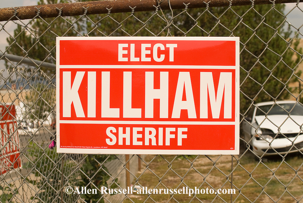 humorous sheriff campaign poster, Lewistown Montana