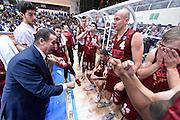 DESCRIZIONE : Campionato 2014/15 Serie A Beko Dolomiti Energia Aquila Trento - Umana Reyer Venezia<br /> GIOCATORE : Carlo Recalcati<br /> CATEGORIA : Allenatore Coach Time Out<br /> SQUADRA : Umana Reyer Venezia<br /> EVENTO : LegaBasket Serie A Beko 2014/2015<br /> GARA : Dolomiti Energia Aquila Trento - Umana Reyer Venezia<br /> DATA : 26/12/2014<br /> SPORT : Pallacanestro <br /> AUTORE : Agenzia Ciamillo-Castoria/GiulioCiamillo<br /> Galleria : LegaBasket Serie A Beko 2014/2015