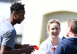 March 8, 2019 - Palm Desert, California, Usa - Tennis : BNP Paribas Open 2019 - Gael Monfils et Elina Svitolina  - France - entrainement (Credit Image: © Panoramic via ZUMA Press)
