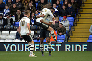 Fulham midfielder Rohan Ince celebrates goal during the Sky Bet Championship match between Birmingham City and Fulham at St Andrews, Birmingham, England on 19 March 2016. Photo by Alan Franklin.