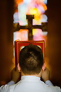 The Word is carried into the Chapel of Our Lord during the opening Divine Service at the 2017 Institute on Liturgy, Preaching and Church Music on Tuesday, July 25, 2017, on the campus of Concordia University Chicago in River Forest, Ill. LCMS Communications/Erik M. Lunsford
