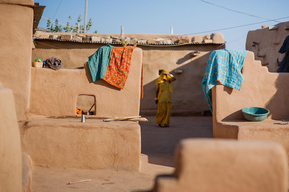 Desert sand house (India)