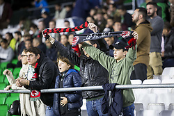 November 8, 2018 - Seville, Spain - Supporters of Milan during the Europa League Group F soccer match between Real Betis and AC Milan at the Benito Villamarin Stadium (Credit Image: © Daniel Gonzalez Acuna/ZUMA Wire)