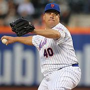 Pitcher Bartolo Colon, New York Mets, pitching during the New York Mets Vs St. Louis Cardinals MLB regular season baseball game at Citi Field, Queens, New York. USA. 20th May 2015. Photo Tim Clayton
