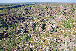The Devonian reef exposed beside Geikie Gorge.