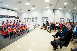 Press conference and presentation of cycling club KK Adria Mobil for season 2016, on March 3, 2016 in Novo mesto, Slovenia. Photo by Vid Ponikvar / Sportida