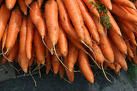 Carrots for sale at market, County Galway, Ireland