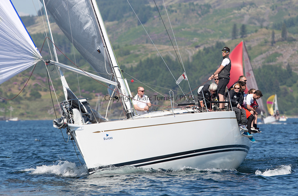 Silvers Marine Scottish Series 2017<br /> Tarbert Loch Fyne - Sailing<br /> <br /> GBR7745R, Eala of Rhu, J McGarry / C Moore, RNCYC, Swan 45.