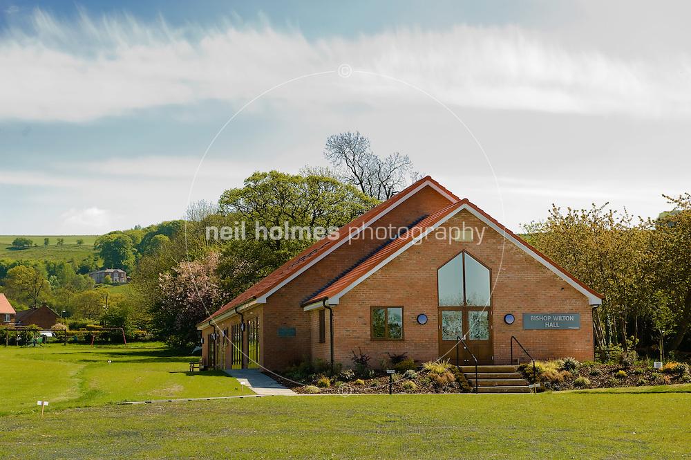 The new village hall, Bishop Wilton village East Yorkshire
