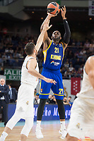 Real Madrid Rudy Fernandez and Khimki Moscow James Anderson during Turkish Airlines Euroleague match between Real Madrid and Khimki Moscow at Wizink Center in Madrid, Spain. November 02, 2017. (ALTERPHOTOS/Borja B.Hojas)