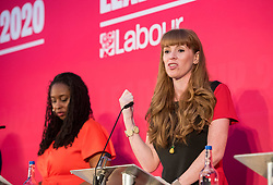 © Licensed to London News Pictures. 01/02/2020. Bristol, UK. DAWN BUTLER and ANGELA RAYNER at the Labour Party Deputy Leadership Hustings, at Ashton Gate Stadium. Deputy Leadership Candidates: Dr Rosena Allin-Khan, Dawn Butler, Angela Rayner, Richard Burgon, Ian Murray. Photo credit: Simon Chapman/LNP.