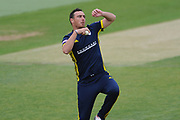 Kyle Abbott of Hampshire during the Royal London One Day Cup match between Hampshire County Cricket Club and Middlesex County Cricket Club at the Ageas Bowl, Southampton, United Kingdom on 23 April 2019.