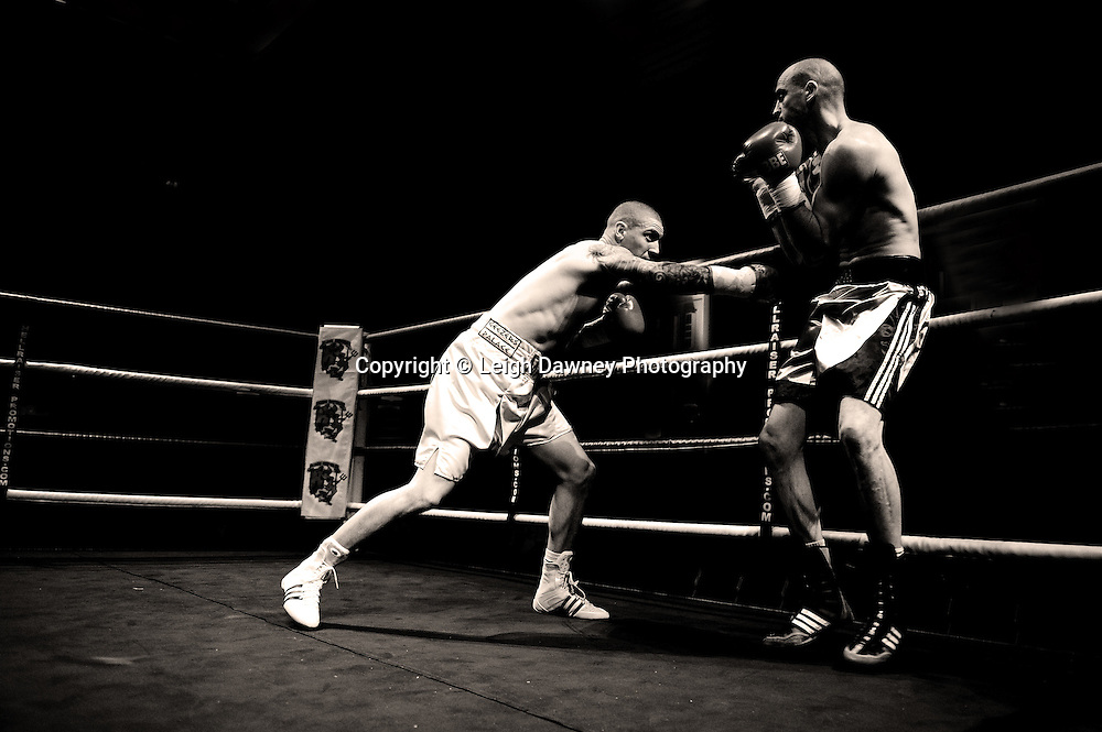 Mark Atkins v Jamie Norkett  at Watford Colusseum 29 November 2009 Promoter Mickey Helliet, Hellraiser Promotions: Credit: ©Leigh Dawney Photography