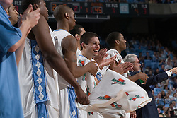 28 December 2006: North Carolina Tarheels bench during a 87-48 Rutgers Scarlet Knights loss to North Carolina, in the Dean Smith Center in Chapel Hill, NC.<br />