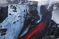 FimmvÜrduhalsi Eruption 2010  Lavafall  Iceland