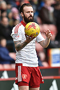 Sheffield United defender John Brayford takes throw in  during the Sky Bet League 1 match between Sheffield Utd and Port Vale at Bramall Lane, Sheffield, England on 20 February 2016. Photo by Ian Lyall.