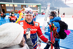 January 6, 2018 - Val Di Fiemme, ITALY - 180106 Tor-Arne Hetland, coach of Norway, and Hans Christer Holund of Norway after men's 15km mass start classic technique during Tour de Ski on January 6, 2018 in Val di Fiemme..Photo: Jon Olav Nesvold / BILDBYRN / kod JE / 160123 (Credit Image: © Jon Olav Nesvold/Bildbyran via ZUMA Wire)