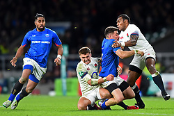 November 25, 2017 - London, England, United Kingdom - England's Semesa Rokoduguni gets his tackle in with England's Henry Slade during Old Mutual Wealth Series between England against Samoa at Twickenham stadium , London on 25 Nov 2017  (Credit Image: © Kieran Galvin/NurPhoto via ZUMA Press)