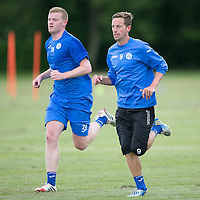 St Johnstone Pre-Season Training...07.07.14<br /> Brian Easton and Steven MacLean during a running exercise<br /> Picture by Graeme Hart.<br /> Copyright Perthshire Picture Agency<br /> Tel: 01738 623350  Mobile: 07990 594431