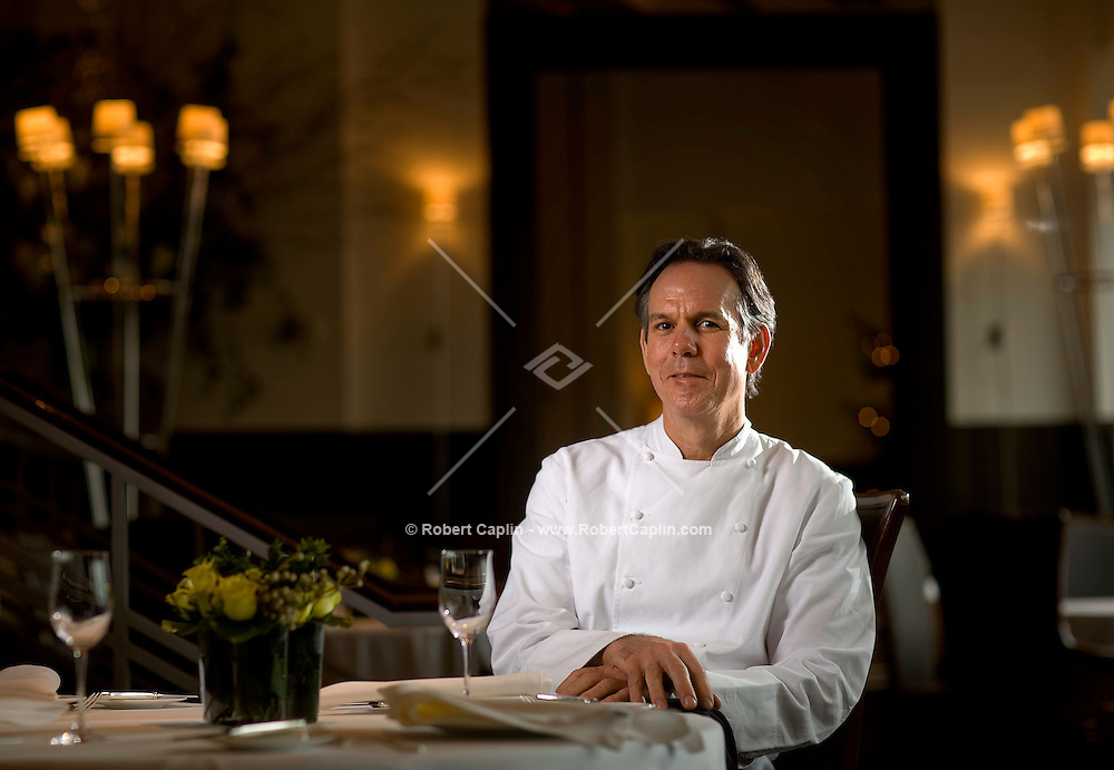 Chef Thomas Keller sits for a portrait in his New York restaurant Per Se, Dec. 5, 2007