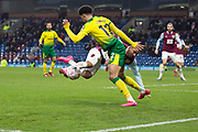 Burnley midfielder Aaron Lennon (25) fouled by Norwich City defender Jamal Lewis (12)  during the The FA Cup match between Burnley and Norwich City at Turf Moor, Burnley, England on 25 January 2020.