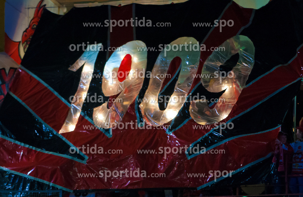 29.01.2011, Stadthalle, Klagenfurt, AUT, EBEL, EC KAC vs EHC LIWEST BLACK WINGS LINZ, im Bild Gründungsjahr des KAC, EXPA Pictures © 2011, PhotoCredit: EXPA/ Gert Steinthaler