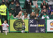 Leigh Griffiths' kids on pitch - Hibernian v Dundee - Clydesdale Bank Scottish Premier League at Easter Road.. - © David Young - www.davidyoungphoto.co.uk - email: davidyoungphoto@gmail.com