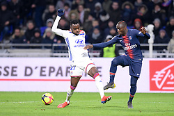 February 3, 2019 - Lyon, France - 27 MOUSSA DIABY (PSG) - 27 MAXWEL CORNET  (Credit Image: © Panoramic via ZUMA Press)