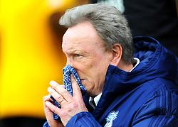 Cardiff City manager Neil Warnock blows his nose- Mandatory by-line: Nizaam Jones/JMP - 02/03/2019 - FOOTBALL - Molineux - Wolverhampton, England -  Wolverhampton Wanderers v Cardiff City - Premier League