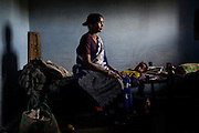 CHENNAI, INDIA, JULY 2012: Perumayee with her two daugheters Nadiya and Anusiya .,july 2012. Her Mother in Law Killed her 3rd Daugheter after 2 days she was born because she touhgt the 3rd female Child would bring bad luck in their home..© Giulio Di Sturco