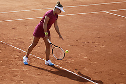 May 22, 2019 - Paris, France - Kristina Kucova of Slovakia serves during her women's singles of the first qualifications round of Roland Garros against Czech Republic's Denisa Allertova, on 22 May 2019 in Paris, France, (Credit Image: © Ibrahim Ezzat/NurPhoto via ZUMA Press)