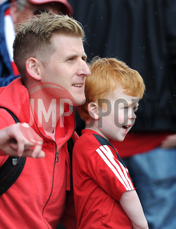Spectators at the Sky Bet League One match between Bristol City and Walsall at Ashton Gate on 3 May 2015 in Bristol, England - Photo mandatory by-line: Paul Knight/JMP - Mobile: 07966 386802 - 03/05/2015 - SPORT - Football - Bristol - Ashton Gate Stadium - Bristol City v Walsall - Sky Bet League One
