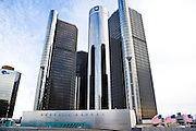 General Motors Corporation Headquarters at the Renaissance Center in Detroit Michigan.