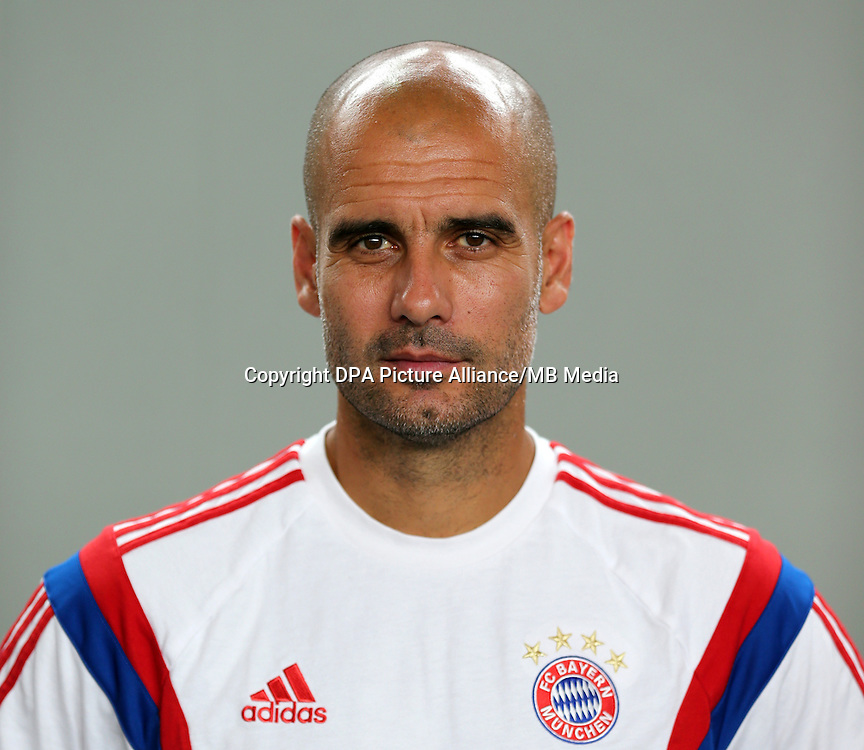 German Soccer Bundesliga - Photocall FC Bayern Munich in Munich on August 9, 2014: Head Coach Pep Guardiola.