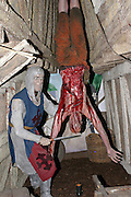 Two of the numerous manikins inside the London Dungeon, England, on Thursday, Oct. 12, 2006. The London Dungeon is a live theatre attraction where visitors are taken by the actors through different areas featuring the darkest parts of British history. Some of the more than 40 exhibits include 'The Great Fire of London', 'Jack the Ripper', 'Judgement Day', 'The Torture Chamber', 'Henry VIII', 'The Tower of London' and 'The French Revolution'. In 2003 a new part opened focused on the Great Plague of 1665.   **Italy Out**..