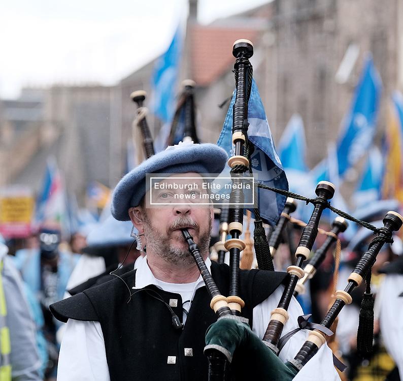 All Under One Banner March, Edinburgh, 5 October 2019<br /> <br /> Pictured: Marchers make their way up the Royal Mile<br /> <br /> Alex Todd   Edinburgh Elite media