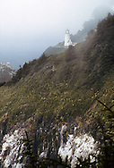 Heceta Head Lighthouse On Hill