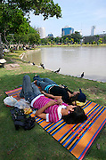 Relaxing at Chatuchak Park.
