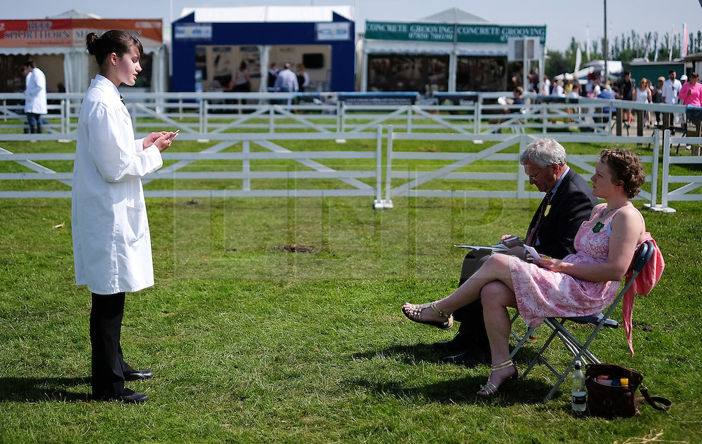 © Licensed to London News Pictures.16/07/15<br /> Harrogate, UK. <br /> <br /> Potential livestock judges are assessed on their judging abilities by master judges on the final day of the Great Yorkshire Show.  <br /> <br /> England's premier agricultural show has seen three days of showcasing the best in British farming and celebrating the countryside.<br /> <br /> The event which attracts over 130,000 visitors each year displays the cream of the country's livestock and offers numerous displays and events giving the chance for visitors to see many different countryside activities.<br /> <br /> Photo credit : Ian Forsyth/LNP