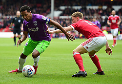 Korey Smith of Bristol City Battles for the ball with  Ben Osborn of Nottingham Forest - Mandatory by-line: Alex James/JMP - 28/04/2018 - FOOTBALL - The City Ground - Nottingham, England - Nottingham Forest v Bristol City - Sky Bet Championship