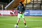 Forest Green Rovers Gavin Gunning(16) warming up during the EFL Sky Bet League 2 match between Cambridge United and Forest Green Rovers at the Cambs Glass Stadium, Cambridge, England on 2 October 2018.