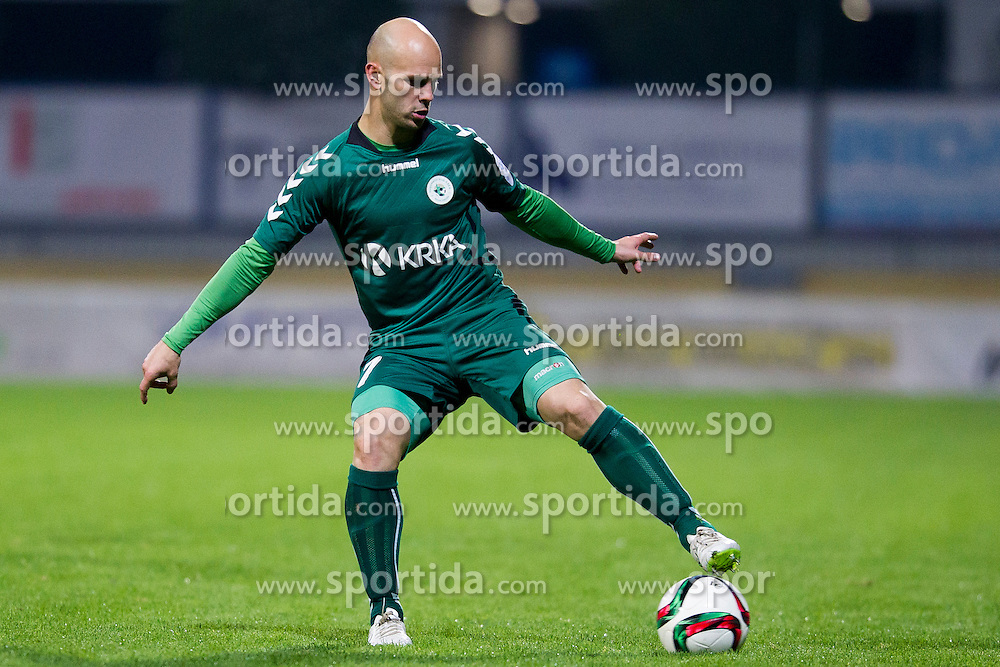 Josip Fucek #7 of NK Krka during football match between NK Domzale and NK Krka in 14th Round of Prva liga Telekom Slovenije 2015/16, on October 17, 2015 in Sports park Domzale, Slovenia. Photo by Urban Urbanc / Sportida