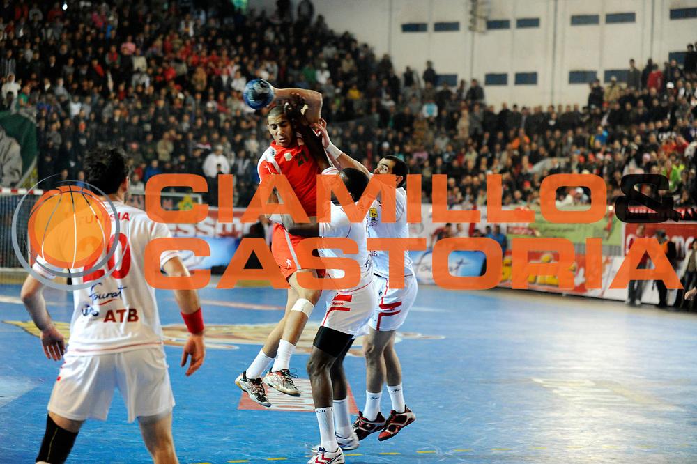DESCRIZIONE : France Hand Coupe Afrique des Nations Homme Maroc Rabat<br /> GIOCATORE : Belliman Labeen<br /> SQUADRA : Maroc<br /> EVENTO : FRANCE Hand CAN<br /> GARA : Tunisie Maroc<br /> DATA :19/01/2012<br /> CATEGORIA : Hand CAN<br /> SPORT : Handball<br /> AUTORE : JF Molliere <br /> Galleria : France Hand 2011-2012 Action<br /> Fotonotizia : CAN Hand RABAT Maroc<br /> Predefinita :